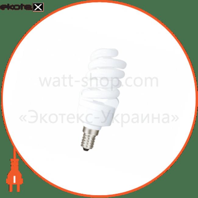 компактна люмінесцентна лампа delux t2 full-spiral 15вт 4100к е14