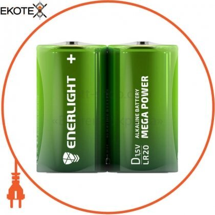 Enerlight 90200202 батарейка enerlight mega power d fol 2
