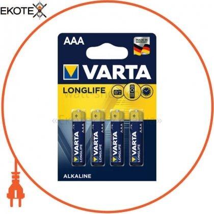 Varta 4103101414 батарейка varta longlife aaa bli 4 шт