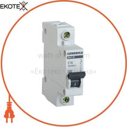 IEK MVA25-1-020-C автоматический выключатель ва47-29 1р 20а 4,5ка с generica