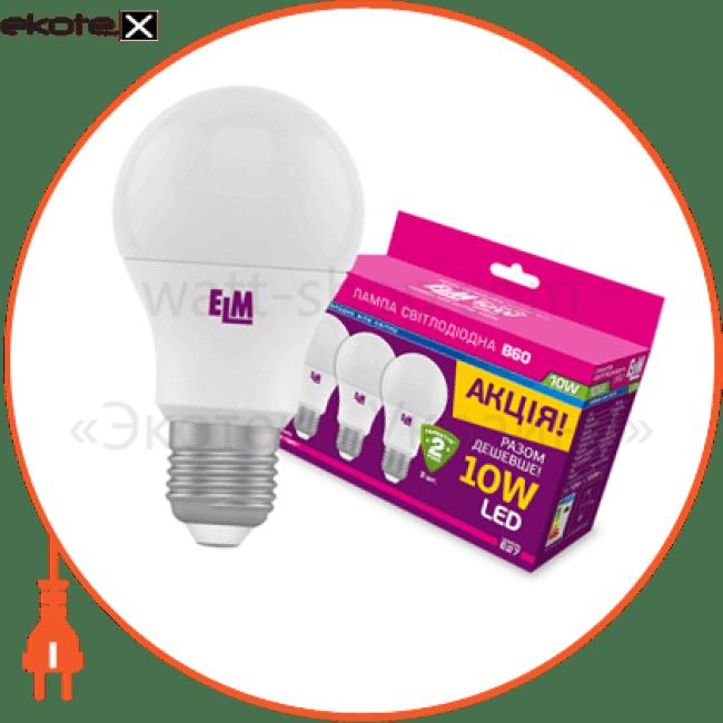 18-0099 ELM светодиодные лампы electrum b60 10w pa10l e27 4000 3 шт.