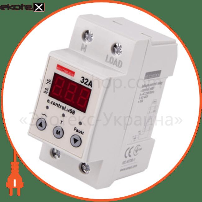 реле контролю напруги однофазне 32а з індикацією e.control.v08