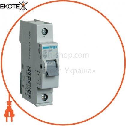 Hager MC110A автоматический выключатель 1p 6ka c-10a 1m
