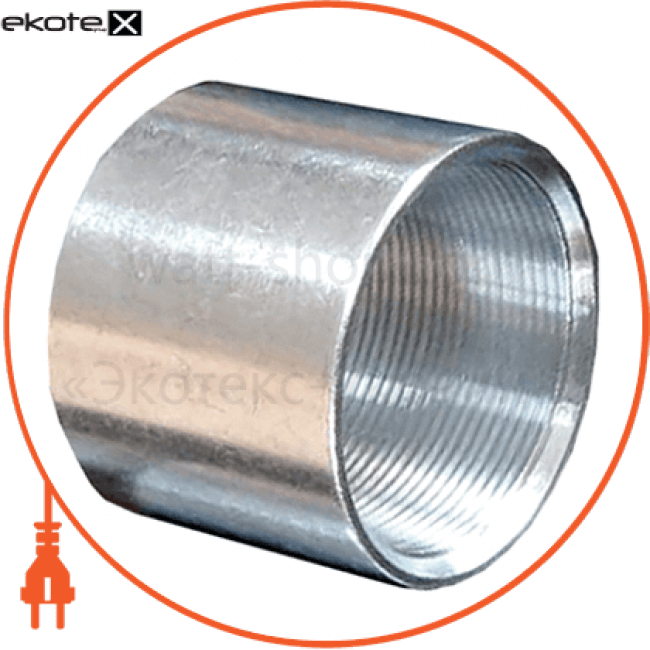 "i0420001 Enext трубы металлические и аксессуары з'єднувач металевий e.industrial.pipe.thread.connect.1/2"", різьбовий"