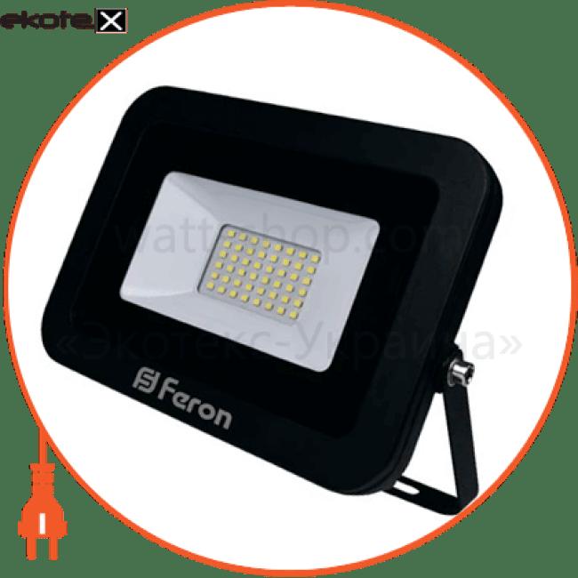 ll-855 50w 6400k 230v (215*185*30mm) черный ip 65 светодиодные светильники feron Feron 32121