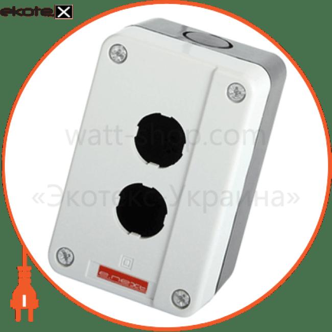 корпус кнопкового поста e.cb.2, 2 місця устройства подачи команд и сигналов Enext p0810013