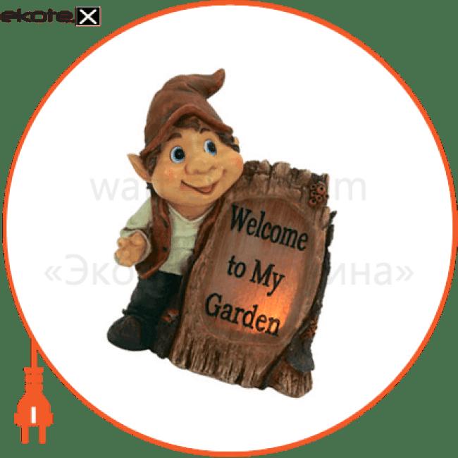 газонный светильник feron e43 гном с табличкой 06112 садово-парковые светильники Feron 6112