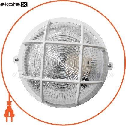 Ecostrum 71994 светильник нпп-65 коло белый прозр.с рис.,с решеткой пп-1051-10-1/6