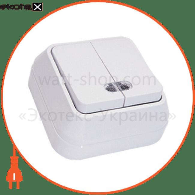 45123 Makel выключатель вимикач 2-клавішний з підсвітленням