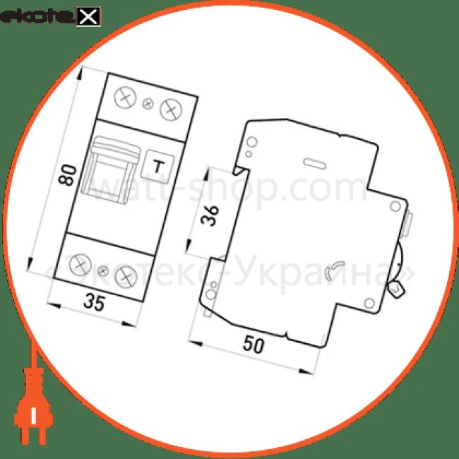 вимикач диференціального струму (дифавтомат) e.industrial.elcb.2.c25.30, 2р, 25а, с, 30ма