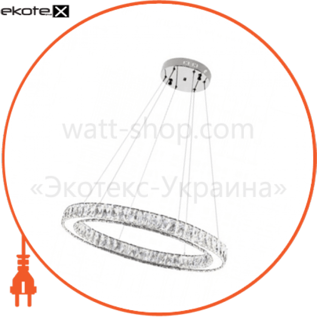 """люстра led """"eternity-40"""" 40w 4000k (хром) светодиодные светильники horoz eelectric Horoz Eelectric 019-022-0040"""