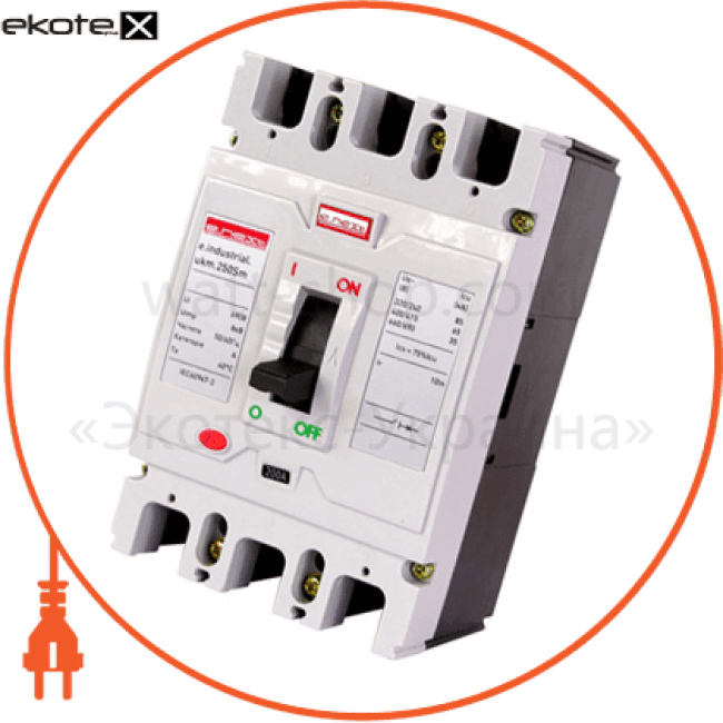 шкафной автоматический выключатель e.industrial.ukm.250sm.125, 3р, 125а силовые автоматические выключатели Enext i0650013