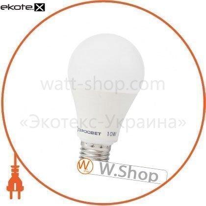 Лампа світлодіодна ЕВРОСВЕТ 10Вт 3000К A-10-3000-27 Е27