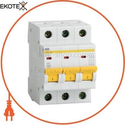 IEK MVA20-3-016-D автоматический выключатель ва47-29 3р 16а 4,5ка d iek