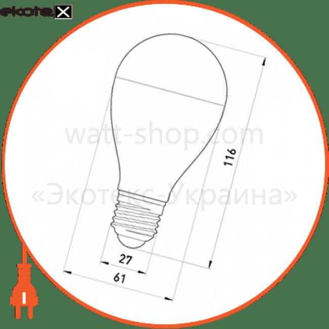 Лампа светодиодная e.save.LED.А60E.E27.7.4200 тип шар, 7Вт, 4200К, Е27 (ал)