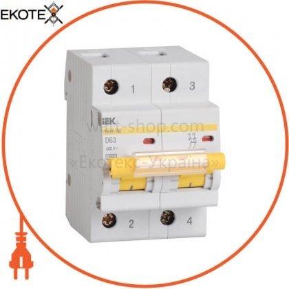 Автоматический выключатель ВА47-100 2Р 40А 10кА D IEK