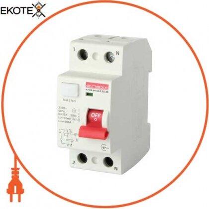 Enext p080002 выключатель дифференциального тока e.rccb.pro.a.2.25.30, 2р, 25а, 30ма., тип a
