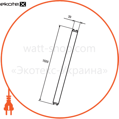 eurolamp led лампа nano t8 24w 4000k светодиодные лампы eurolamp Eurolamp LED-T8-24W/4000(nano)