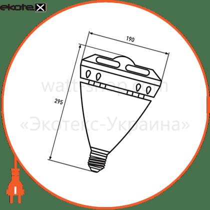 eurolamp led лампа высокомощная 60w e40 6500k (глазок) светодиодные лампы eurolamp Eurolamp LED-HP-60406