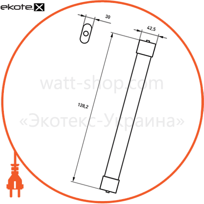 eurolamp led светильник линейный ip65 36w 4000k (1.2m)slim светодиодные светильники eurolamp Eurolamp LED-FX(1.2)-36/41(slim)