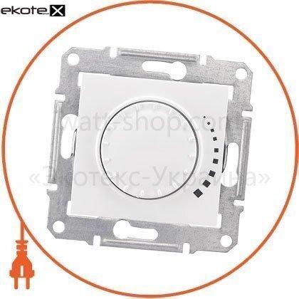 Sedna Светорегулятор двунаправленный поворотно-нажимной, без рамки 500VA белый