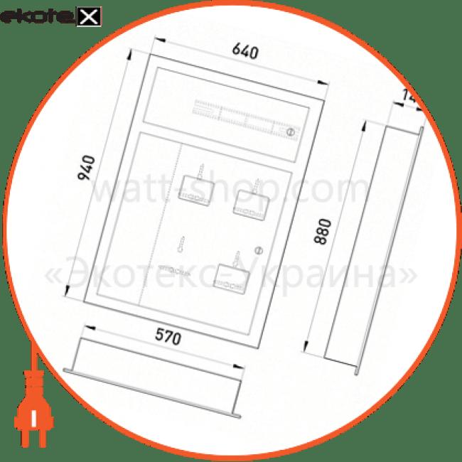 щит поверховий щэ-3-01 під три однофазних лічильника, внутрішній щиты этажные Enext ЩЭ-3-01