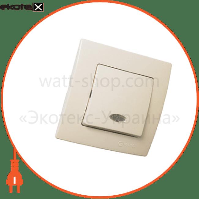 32010021 Makel выключатель вимикач1-клавішний з підсвітленням