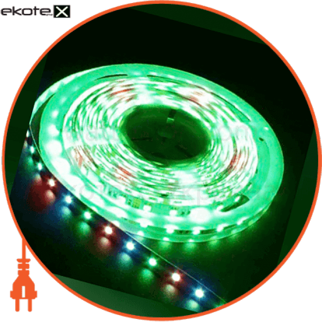 ls606/ sanan led-rl 30smd(5050)/m 7.2w/m 12v 5m*10*0.22mm rgb на белом светодиодная лента feron Feron 27678