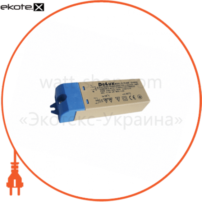 10008853 Delux балласты трансформатор електронний eltr-60w 20-60вт