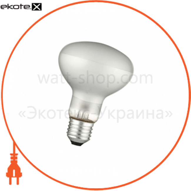 рефлекторна лампа матова delux r80 60вт е27