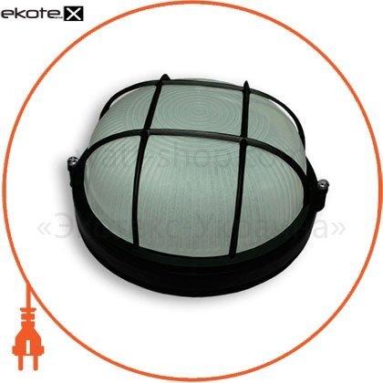 Ecostrum 69853 светильник 100w круг черный с решеткой