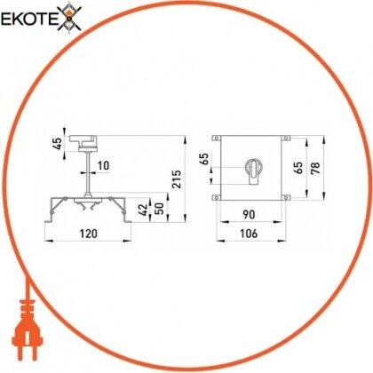 Enext i0060001 поворотная рукоятка e.industrial.ukm.60.cs