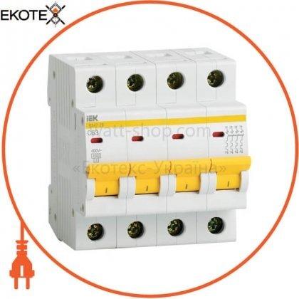 IEK MVA20-4-025-B автоматический выключатель ва47-29 4р 25а 4,5ка в iek