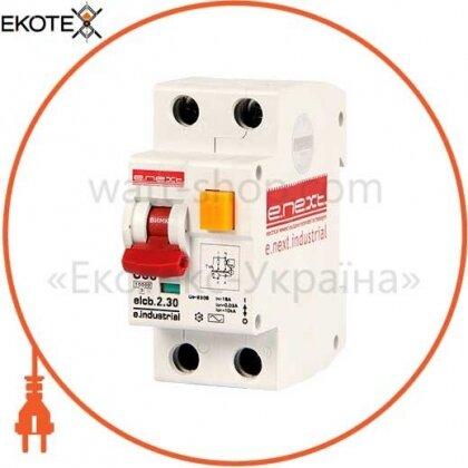 Enext i0230001 выключатель дифференциального тока (дифавтомат) e.industrial.elcb.2.c06.30, 2р, 06а, c, 30ма