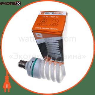 лампа энергосберегающая fs-45-4200-40 fs-45-4200-40 энергосберегающие лампы евросвет Евросвет