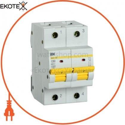 IEK MVA50-2-080-C автоматический выключатель ва47-150 2р 80а 15ка c iek