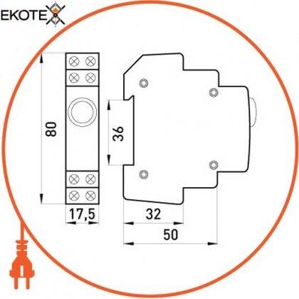 Enext p059004 индикатор на din-рейку e.i.din.220.yellow, желтый