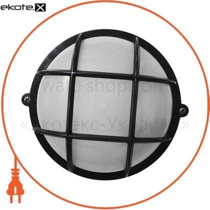 Ecostrum 72003 светильник нпп-65 круг чёрн.опал с реш.пп-1052-07-1/6
