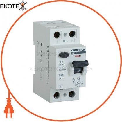 IEK MDV15-2-025-030 выключатель дифференциальный (узо) вд1-63 2р 25а 30ма generica