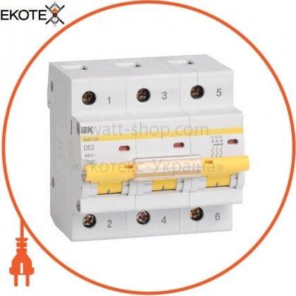 IEK MVA40-3-063-D автоматический выключатель ва47-100 3р 63а 10ка d iek