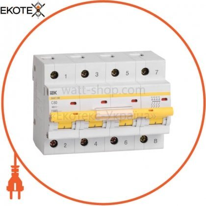 Автоматический выключатель ВА47-100 4Р 50А 10кА С IEK