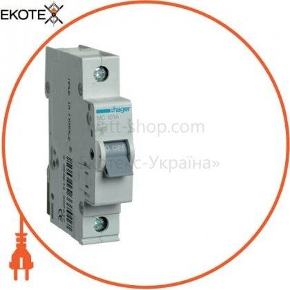 Hager MC101A автоматический выключатель 1p 6ka c-1a 1m