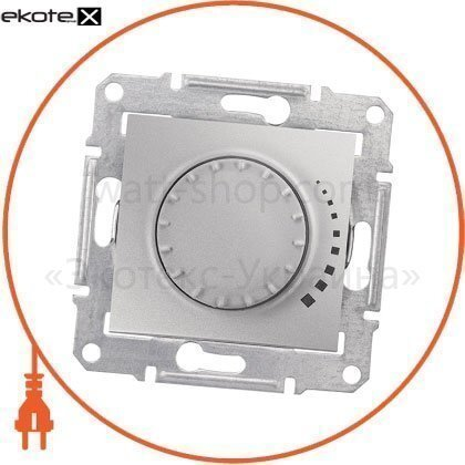 Sedna Светорегулятор двунаправленный поворотно-нажимной, без рамки 500VA алюминиевый