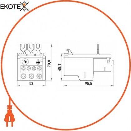 Enext i0110010 тепловое реле e.industrial.ukh.40.40, номин. ток 40а, диап. регул. 28-40 а