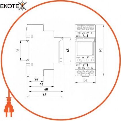 Enext i0310013 реле времени астрономическое двухканальное e.control.t10
