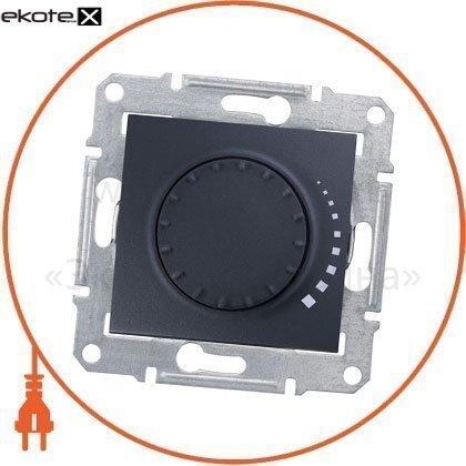 Schneider SDN2200770 sedna светорегулятор двунаправленный поворотно-нажимной, без рамки 325va графит