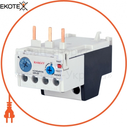 Enext i0110023 тепловое реле e.industrial.ukh.22.0,16 номинальный ток 22а, диапазон регулировки 0,1-0,16 а