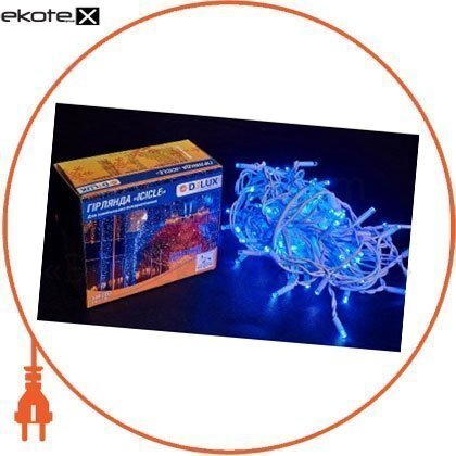 Гирлянда внешняя DELUX ICICLE 108 LED бахрома 2x1m 27 flash синий/белый IP44 EN