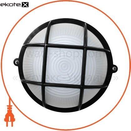 Ecostrum 72015 светильник нпп-65 круг черный опал.с решеткой пс-1052-11-1/1