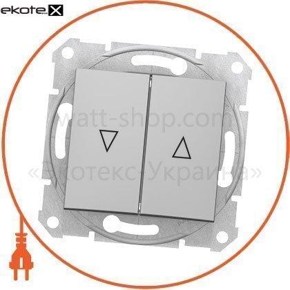 Schneider SDN1300160 sedna кнопка для жалюзи с 10ax электрическим замком, без рамки алюминиевый